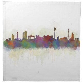 Berlin City Germany. Deutsche Skyline art v2 Napkin
