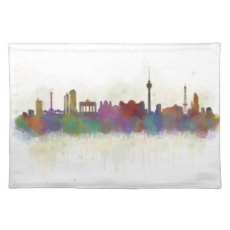 Berlin City Germany. Deutsche Skyline art v2 Placemat
