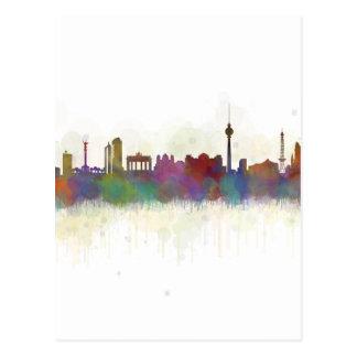Berlin City Germany. Deutsche Skyline art v2 Postcard