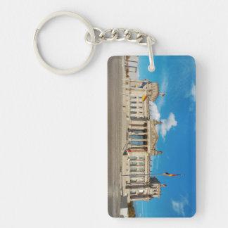 Berlin city Germany Reichstag building landmark ar Keychain