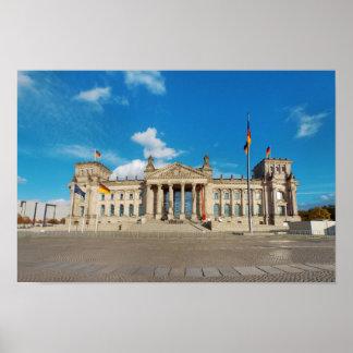 Berlin city Germany Reichstag building landmark ar Poster