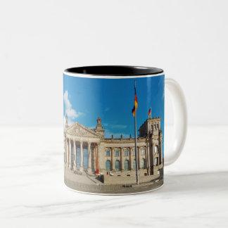 Berlin city Germany Reichstag building landmark ar Two-Tone Coffee Mug