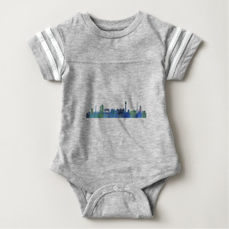 Berlin City Germany watercolor Skyline art Baby Bodysuit