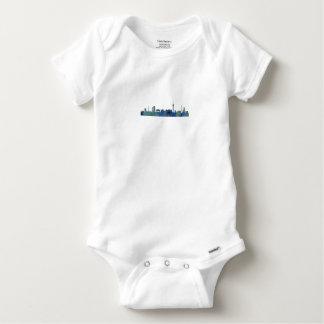 Berlin City Germany watercolor Skyline art Baby Onesie
