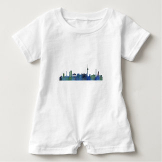 Berlin City Germany watercolor Skyline art Baby Romper