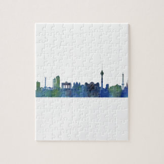 Berlin City Germany watercolor Skyline art Jigsaw Puzzle
