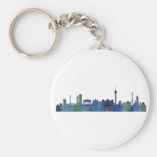 Berlin City Germany watercolor Skyline art Keychain
