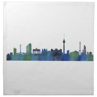 Berlin City Germany watercolor Skyline art Napkin