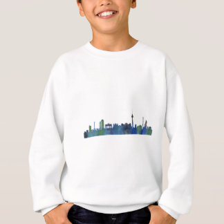 Berlin City Germany watercolor Skyline art Sweatshirt