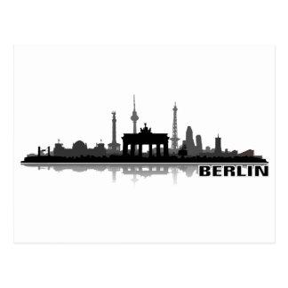 Berlin city of skyline - postcard