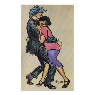 Berlin Couple Dancing Early 1900's Poster
