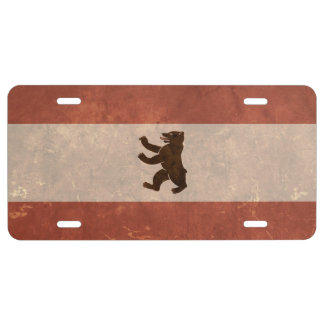 Berlin Flag Vintage Style License Plate