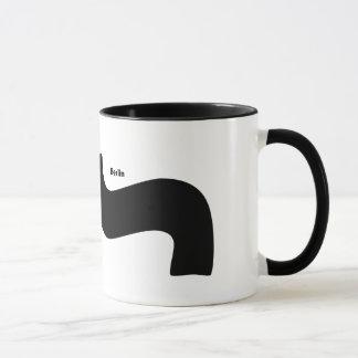 Berlin Font Parenthese Mustache Mug