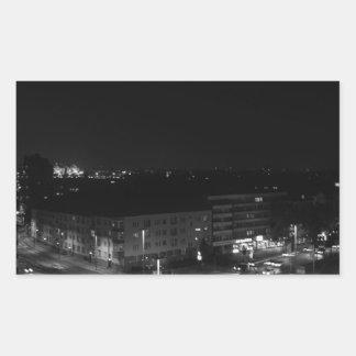 Berlin Germany - Concrete Cadillac Skyline. Rectangle Stickers