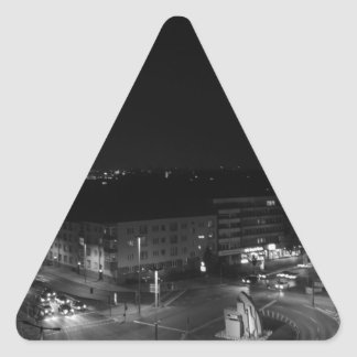 Berlin Germany - Concrete Cadillac Skyline. Triangle Sticker
