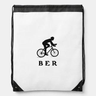 Berlin Germany Cycling BER Drawstring Bags