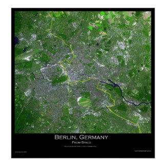 Berlin Germany From Space Poster