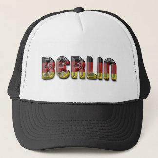 Berlin Germany German Flag Colors Typography Trucker Hat
