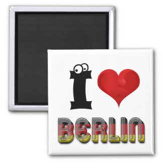 Berlin Germany German Love Flag Funny Typography Magnet