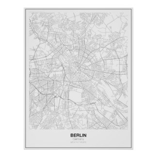 Berlin, Germany Minimalist Map Poster (Style 2)