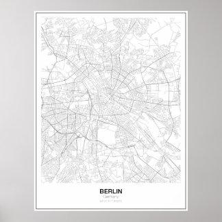 Berlin, Germany Minimalist Map Poster (Style 2)