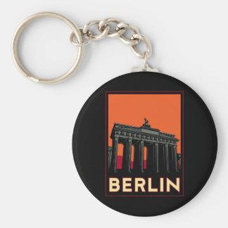 berlin germany oktoberfest art deco retro travel basic round button keychain