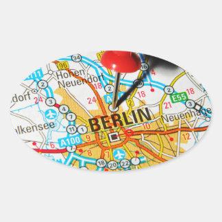 Berlin, Germany Oval Sticker