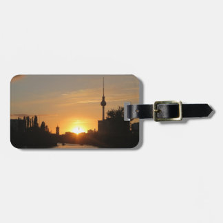 Berlin Germany Skyline Night Fernsehturm Luggage Tag