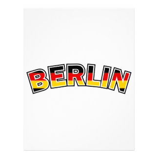 Berlin, Germany, text with Germany flag colors Letterhead