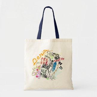 Berlin Graffiti Girl Tote Bag
