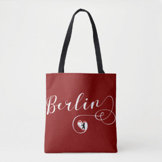 Berlin Heart Grocery Bag, Germany Tote Bag