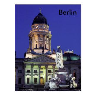 Berlin in night lights postcard