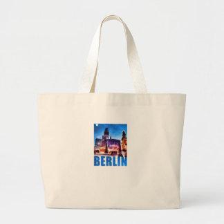 BERLIN, Kaiser Wilhelm Memorial Church, Illu Large Tote Bag