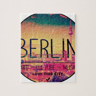 Berlin, Love This City series, circle Jigsaw Puzzle
