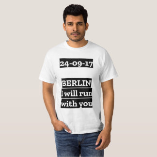 Berlin marathon 2017 - run - runner - world-wide T-Shirt