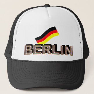 Berlin metal trucker hat