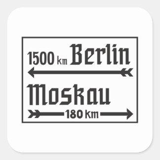 Berlin-Moscow, II World War, Russia Square Sticker