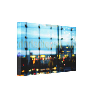 Berlin night lights canvas print