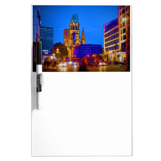 Berlin nightlife - Kaiser Wilhelm Memorial Church Dry-Erase Boards