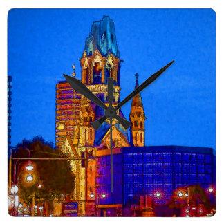 Berlin nightlife - Kaiser Wilhelm Memorial Church Square Wall Clock