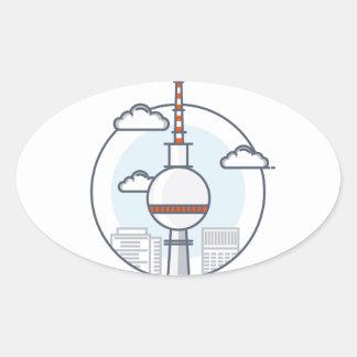 Berlin Oval Sticker