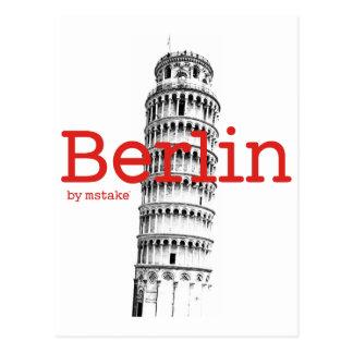 Berlin & Pisa mstake Postcard