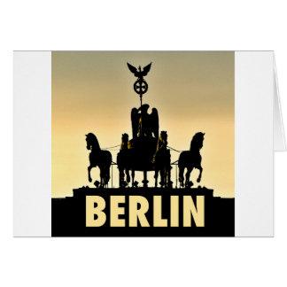 BERLIN Quadriga 002.1 Brandenburg Gate Card