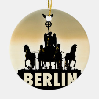 BERLIN Quadriga 002.1 Brandenburg Gate Ceramic Ornament