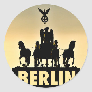 BERLIN Quadriga 002.1 Brandenburg Gate Classic Round Sticker