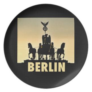 BERLIN Quadriga 002.1 Brandenburg Gate Dinner Plates