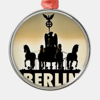 BERLIN Quadriga 002.1 Brandenburg Gate Metal Ornament