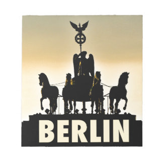 BERLIN Quadriga 002.1 Brandenburg Gate Notepad
