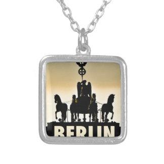BERLIN Quadriga 002.1 Brandenburg Gate Silver Plated Necklace