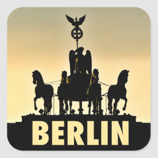 BERLIN Quadriga 002.1 Brandenburg Gate Square Sticker